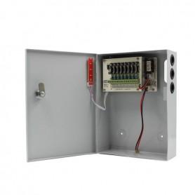 Surse alimentare 12V pentru camere Surse alimentare CCTV 5A 8 iesiri cu backup STR1205-08CB Strong Euro Power