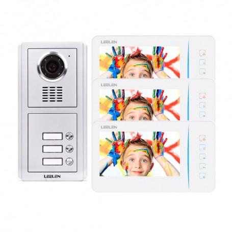 Videointerfoane Videointerfon Leelen N60 pentru 3 apartamente Leelen