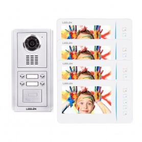 Videointerfoane Videointerfon Leelen N60 pentru 4 apartamente cu cititor de card Leelen