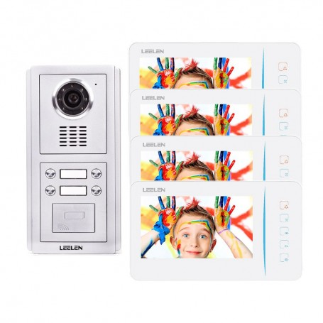 LeelenVideointerfon Leelen N60 pentru 4 apartamente cu cititor de card