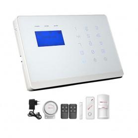 Wolf-GuardAlarma wireless cu apelator dual GSM + PSTN, tastatura tactila si ecran LCD Wolf-Guard YL-007M2