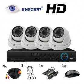 HiWatchCAMERA TURBOHD DOME 4MP 2.8MM IR20M