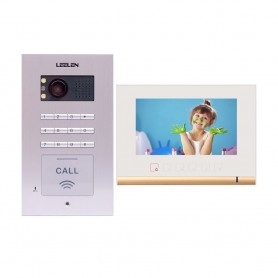 LeelenVideointerfon Leelen N72B cu tastatura si cititor de card - alb
