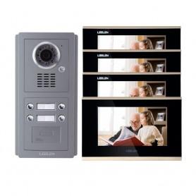 LeelenVideointerfon IP LEELEN 4 familii cu cititor de card