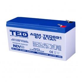 TEDBATERIE AGM TED691F2 6V 9.1Ah