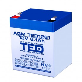 TEDBATERIE AGM TED1261F2 12V 6.1Ah