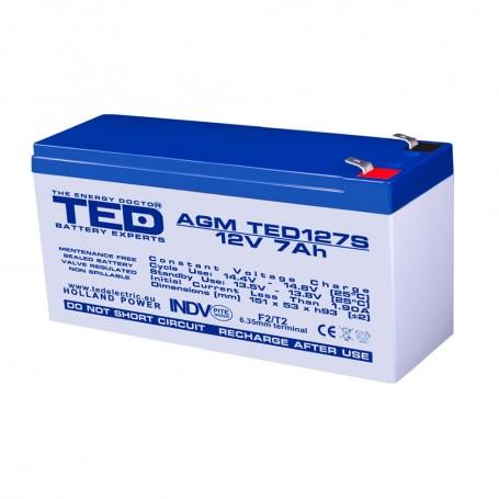 TEDBATERIE AGM TED127SF2 12V 7Ah
