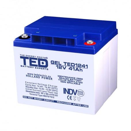 TEDBATERIE GEL TED1241M6 12V 41Ah