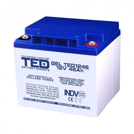 TEDBATERIE GEL TED1246M6 12V 46Ah