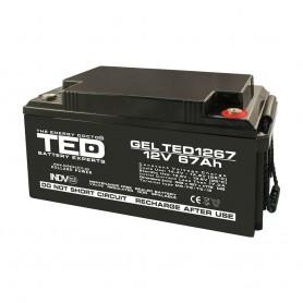 TEDBATERIE GEL TED1267M6 12V 67Ah