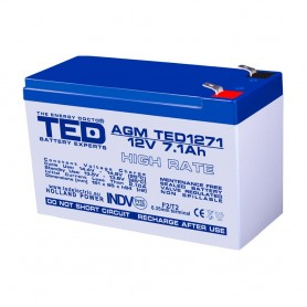 TEDBATERIE AGM TED1271HR 12V 7.1Ah HIGH RATE