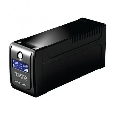 UPS PC UPS 900VA LED TED LINE INTERACTIVE CU STABILIZATOR 2 IESIRI SCHUKO TED