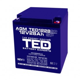 TEDBATERIE AGM TED1226M5 12V 26AH
