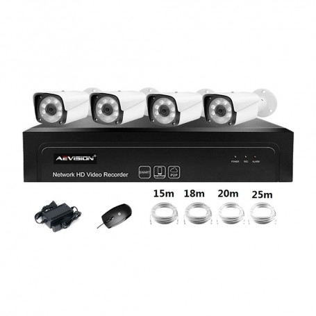 AEVISIONSistem supraveghere video IP 4 canale Aevision NK5004P-5MP