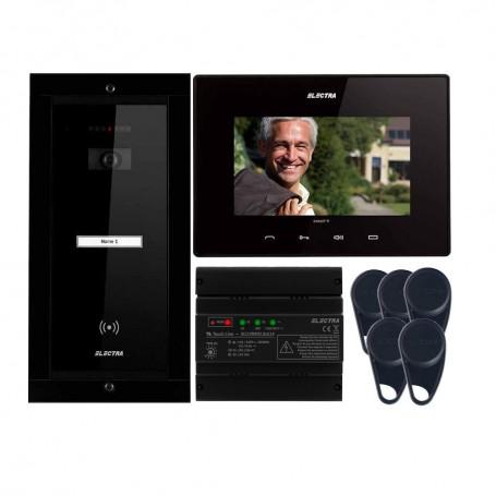 "Videointerfoane Videointerfon Electra Smart+ 7"" pentru o familie montaj incastrat - negru ELECTRA"
