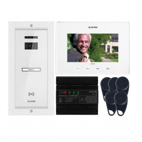 "ELECTRAVideointerfon Electra Smart+ 7"" pentru o familie montaj incastrat - alb"