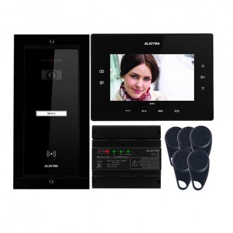 "Videointerfoane Videointerfon Electra Extra 7"" pentru o familie montaj incastrat - negru ELECTRA"
