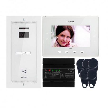"ELECTRAVideointerfon Electra Extra 7"" pentru o familie montaj incastrat - alb"