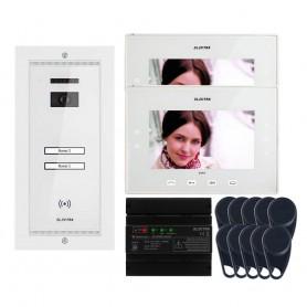"ELECTRAVideointerfon Electra Extra 7"" pentru 2 familii montaj incastrat - alb"