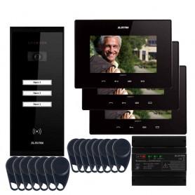"""ELECTRAVideointerfon Electra Smart+ 7"""" pentru 3 familii montaj aparent"""