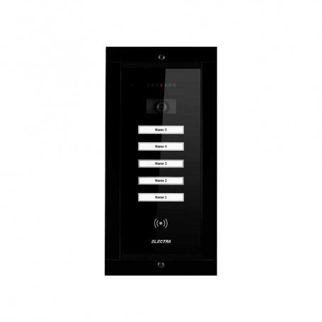 Videointerfoane Panou video smart exterior Electra 5 familii montaj incastrat negru ELECTRA