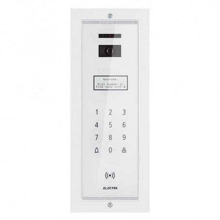 ELECTRAPanou video smart exterior Electra pentru blocuri incastrat alb