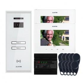"""ELECTRAVideointerfon Electra Smart+ 7"""" pentru 2 familii montaj aparent - alb"""