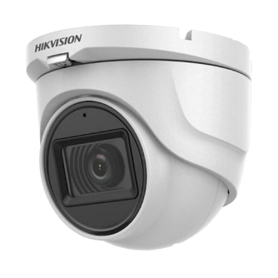 Camera 5MP, lentila 2.8mm, IR 30m, AUDIO integrat - HIKVISION DS-2CE76H0T-ITMFS-2.8mm