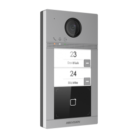 Panou exterior videointerfon TCP/IP pentru 2 familii, Wi-Fi 2.4GHz, control acces integrat - HIKVISION DS-KV8213-WME1