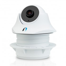 Ubiquiti UVC-Dome (IniFi Video Camera) INDOOR (720p HD, 30 FPS, night vision, POE (adapter included), buit-in microphone, Wall,