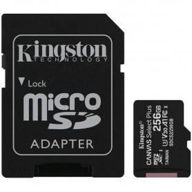 Kingston 256GB micSDXC Canvas Select Plus 100R A1 C10 Card + ADP EAN: 740617298710