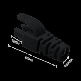 Manson mufa RJ45 negru, 100 buc. RJ45-CAP-BK