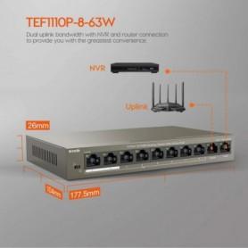TENDA 8-PORT POE SWITCH TEF1110P-8-63W