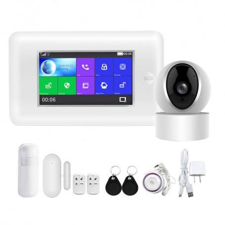 Sistem de alarma wireless PGST PG-106 WIFI GSM si camera wireless