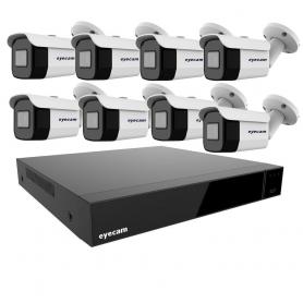 Sistem Supraveghere Video 8 Camere Exterior 8MP 4K 3.6mm 25M