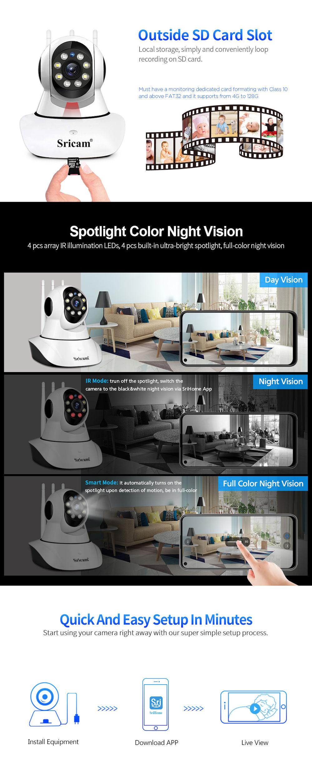 camera wireless sricam sp029