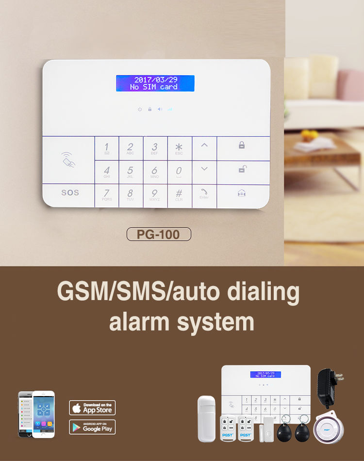 sistem alarma wireless pgst pg-100