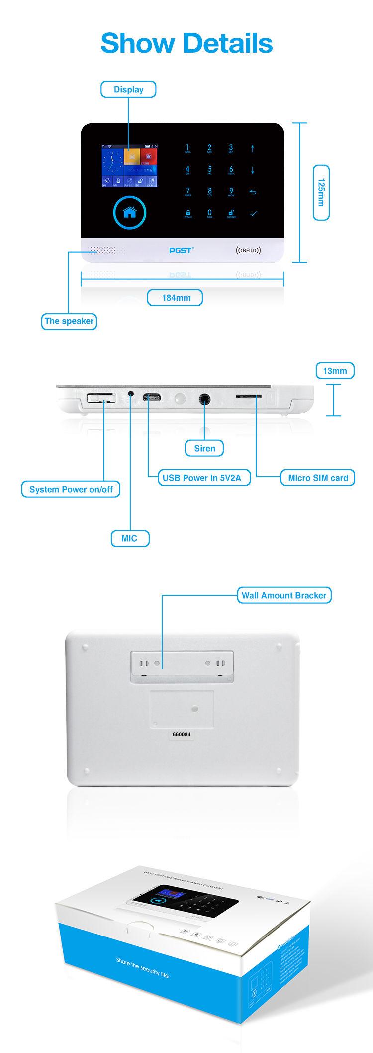 sistem alarma wireless pgst pg-103